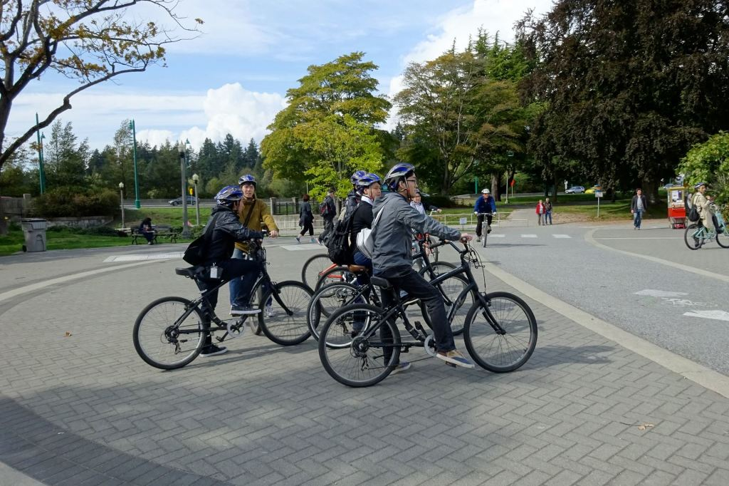 Cycling at Stanley Park